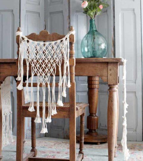 Macramé Pour Chaise