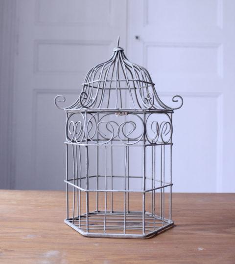 Cage à Oiseau Grise