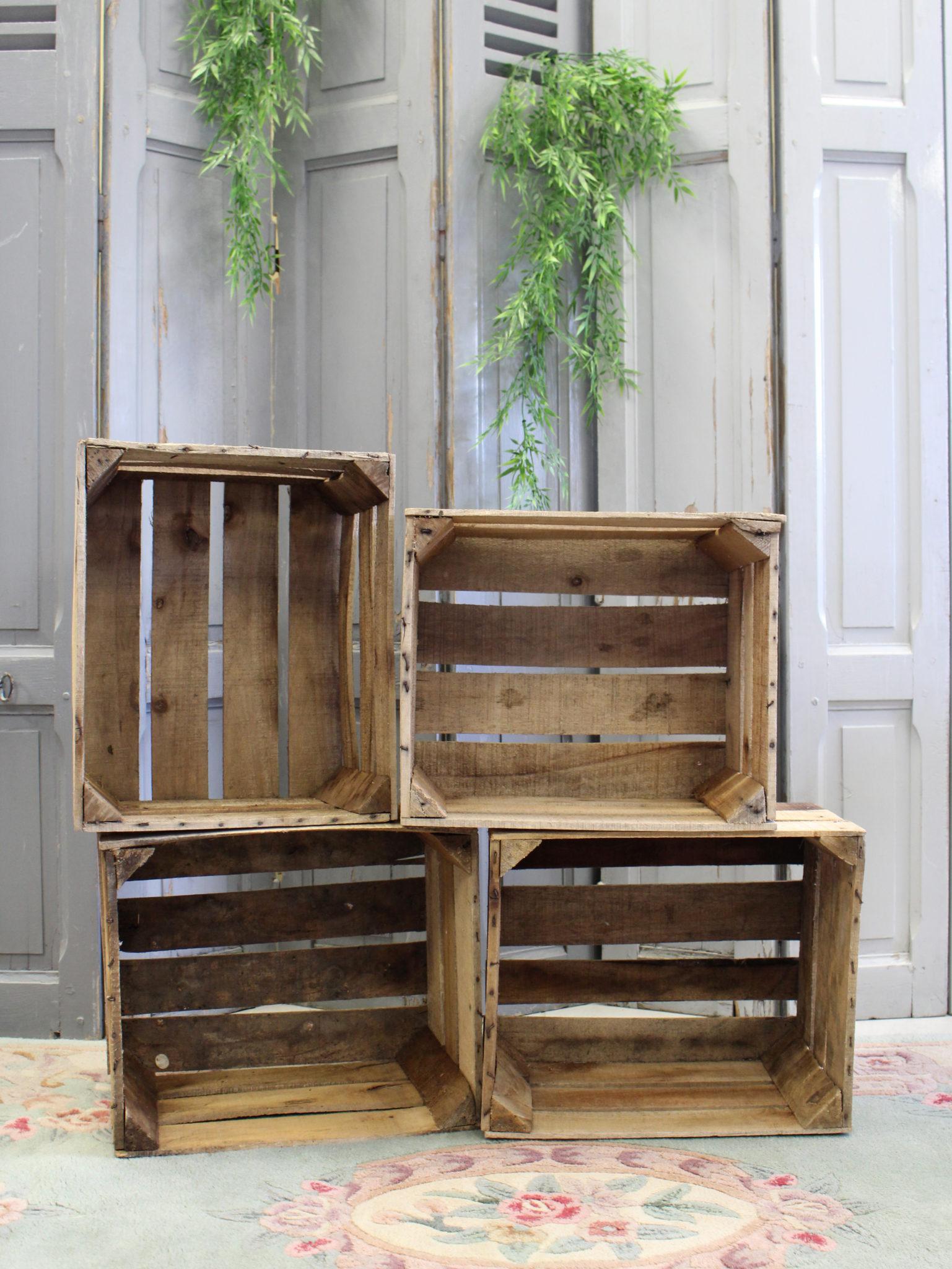 Deco Avec Des Caisses De Pommes caisse à pommes en bois