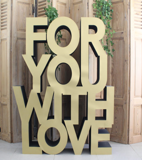 Signalétique « For You With Love »